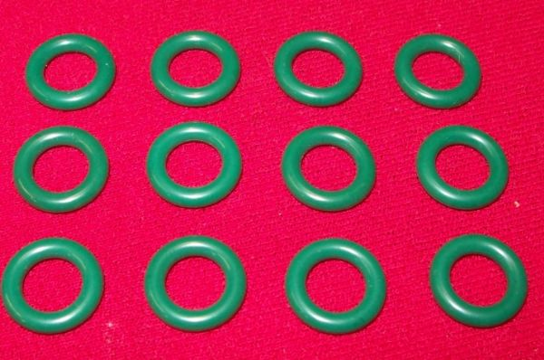 Green Smooth Model Toy / Tires Car Tyres (Price per set of Twelve)